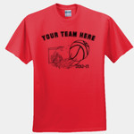Basketball team shirt