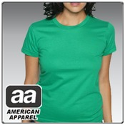 American Apparel 2102 Jr's Fine Jersey Short Sleeve T