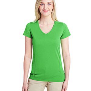 Ladies' Performance® Ladies' 4.7 oz. V-Neck Tech T-Shirt Thumbnail