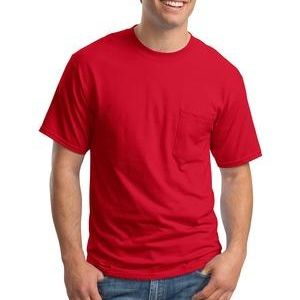 SP- Hanes Beefy T ® 100% Cotton T Shirt with Pocket Thumbnail
