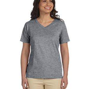 Copy of Ladies' Combed Ringspun Jersey V-Neck T-Shirt Thumbnail