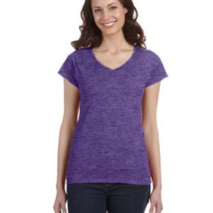 Ladies'  4.5 oz. SoftStyle Junior Fit V-Neck T-Shirt - Value DTG Thumbnail