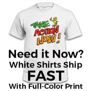SUPER EXPRESS White SHIRTS - FULL COLOR - Ships in 2-48 hours  Thumbnail