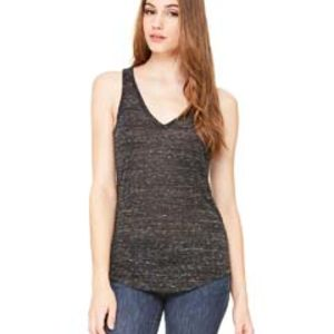 SP- Canvas Ladies' Flowy V-Neck Tank Thumbnail